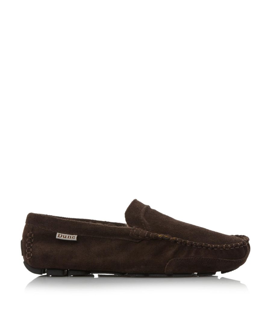 Image for Dune Mens FURLONG Faux Fur Lined Suede Driver Slipper