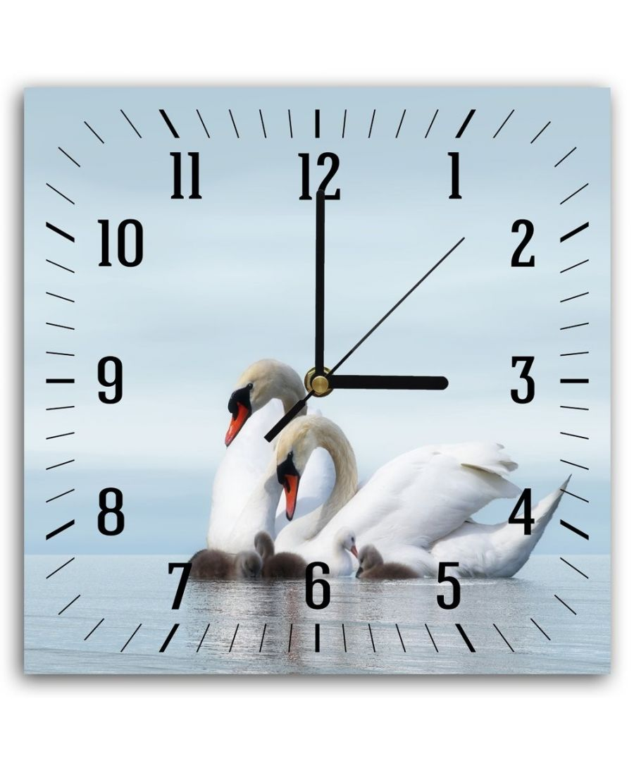 Image for Wall Clock - Swans Family Cm. 30x30