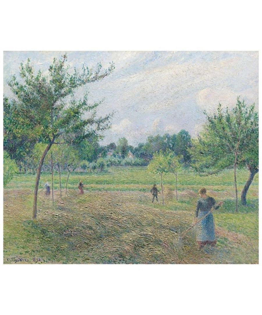 Image for Canvas Print - Haymaking At Éragny - Camille Pissarro Cm. 50x60