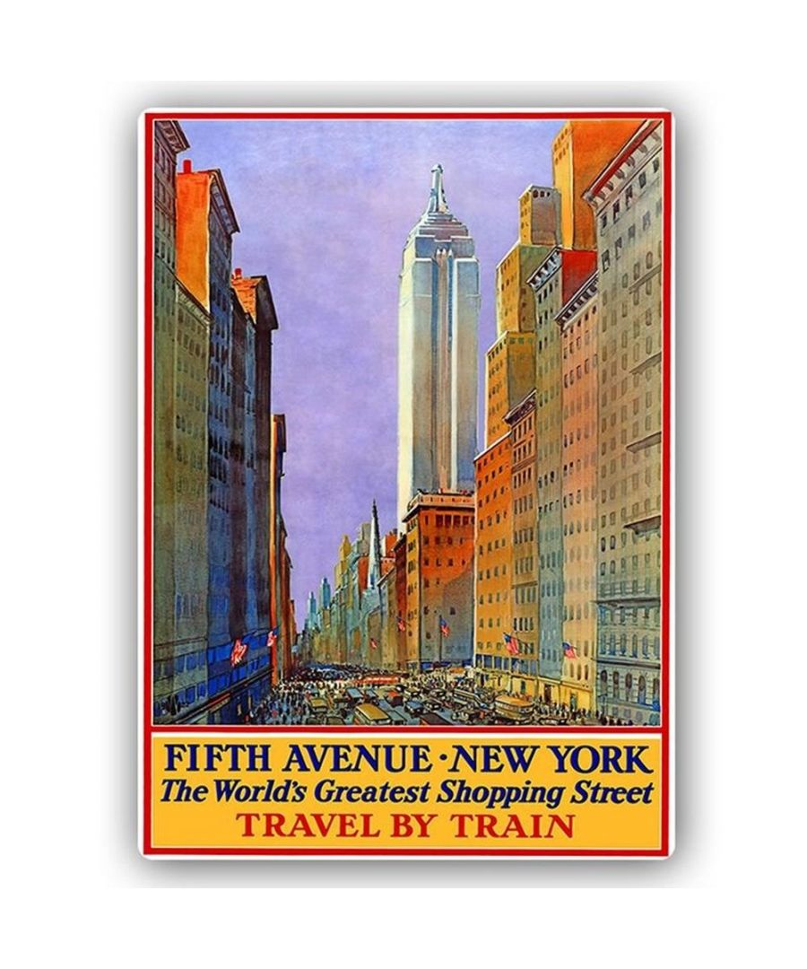 Image for Vintage Tourist Poster - Metal Print  - Fifth Avenue New York