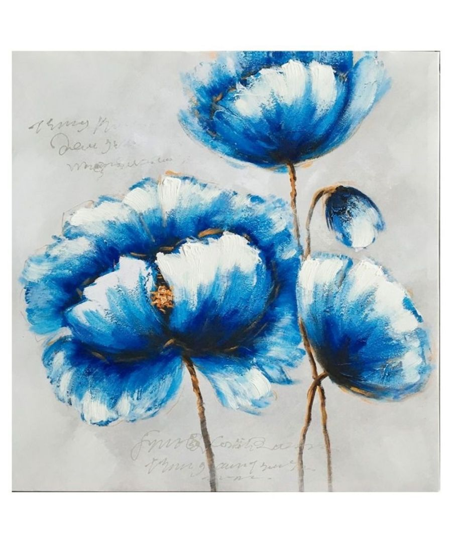 Image for Canvas Print - Flowers In Blue Cm. 60x60