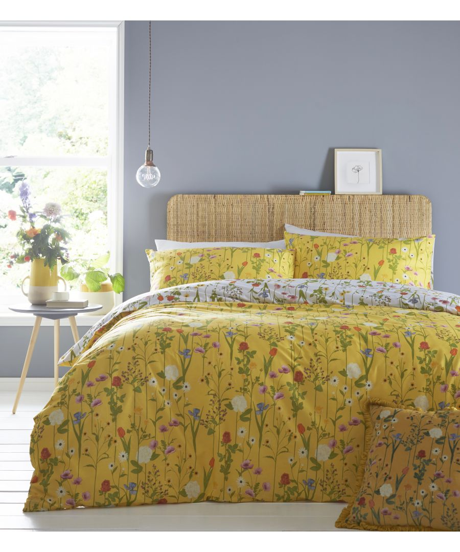 Image for Fleura Duvet Set Yellow