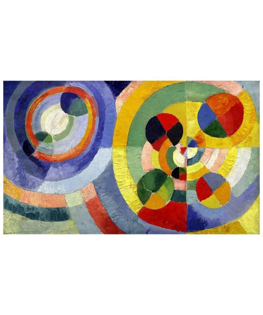 Image for Canvas Print - Circular Forms - Robert Delaunay Cm. 60x100