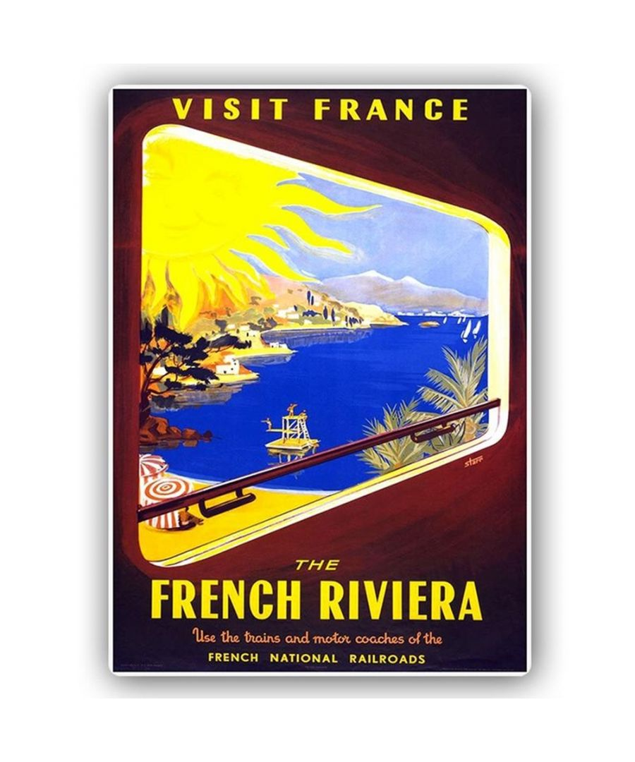 Image for Vintage Tourist Poster - Metal Print  - French Riviera