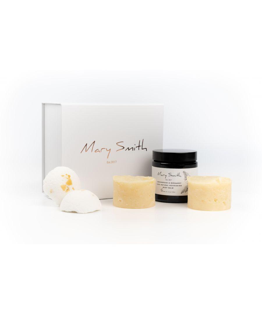 Image for 100% Natural and Vegan Friendly Freshie Bath & Body Gift Set - Lemongrass & Bergamot