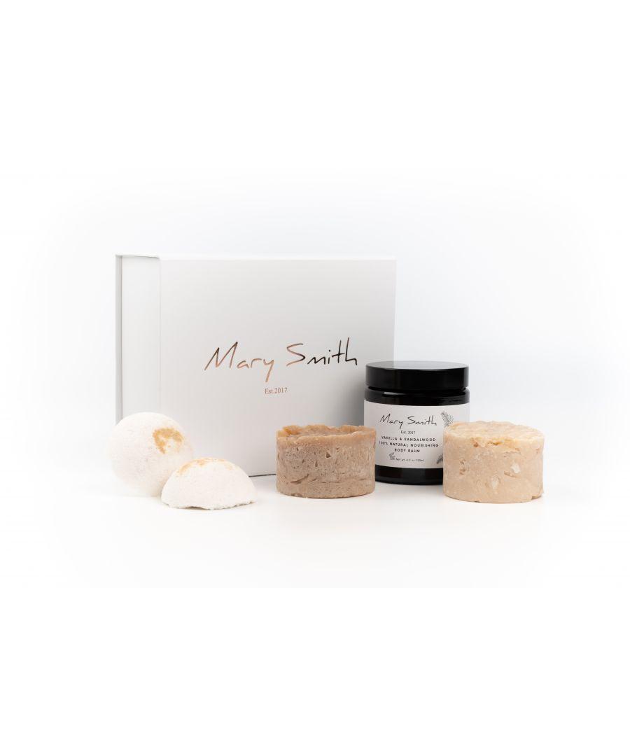 Image for 100% Natural and Vegan Friendly Freshie Bath & Body Gift Set - Vanilla & Sandalwood