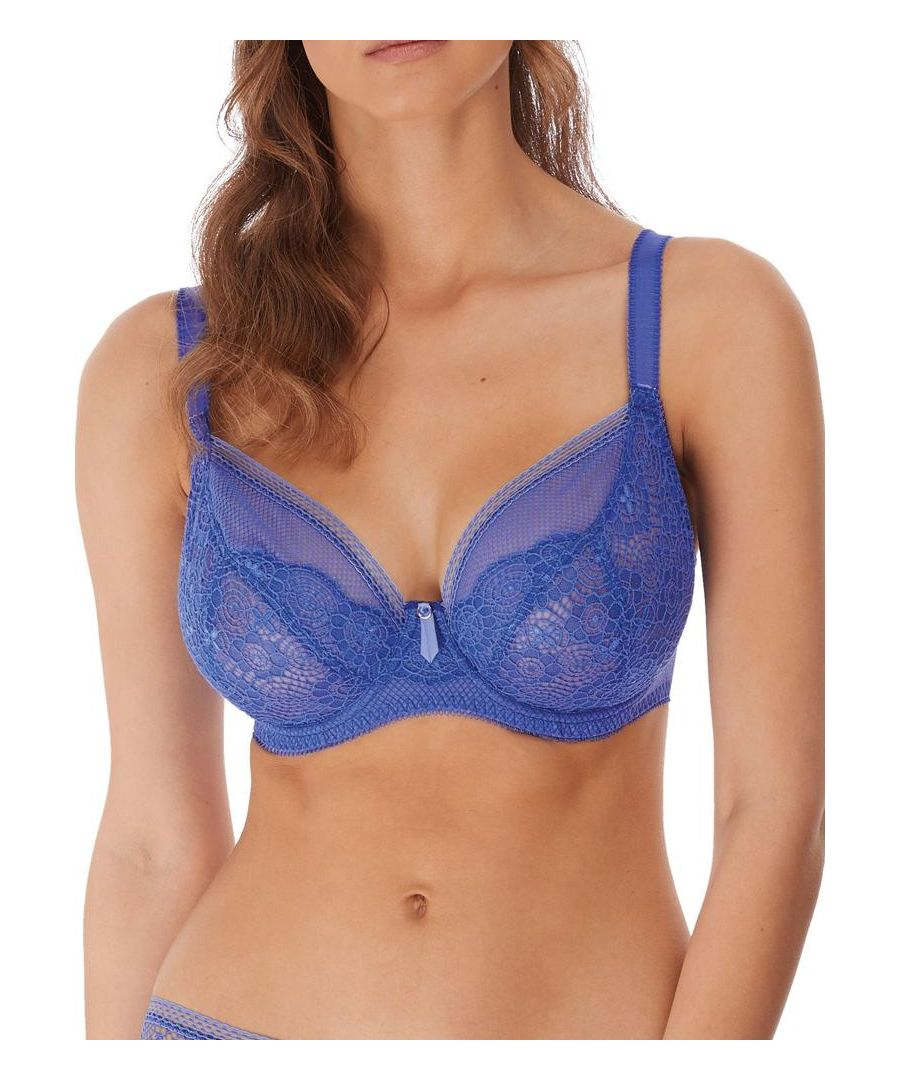 Image for Expression Underwired Plunge Bra - Pacific