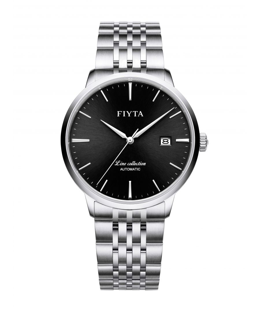 Image for Fiyta Mens Automatic Line Date Watch