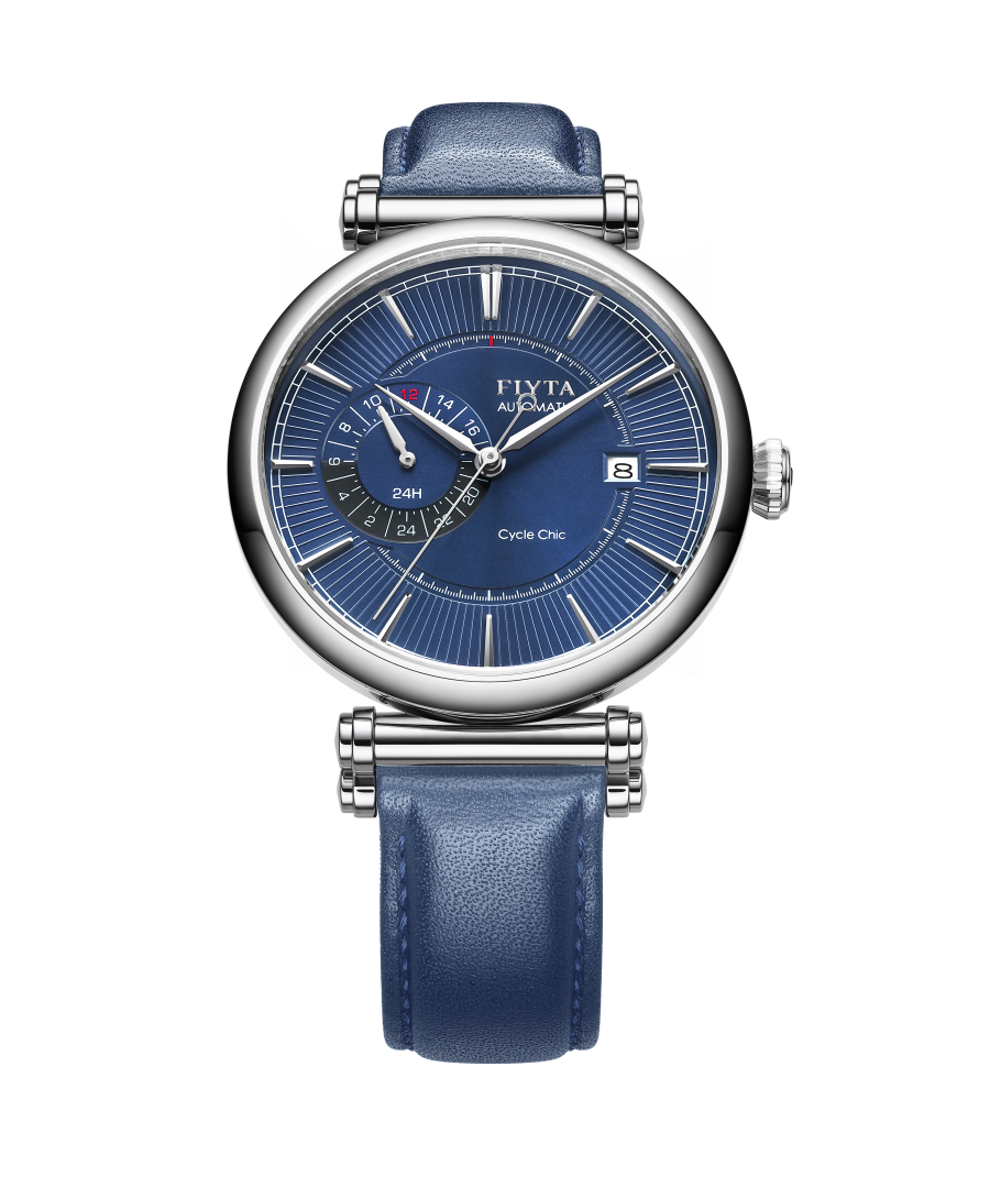 Image for Fiyta Mens Automatic Classic Watch Blue Dial