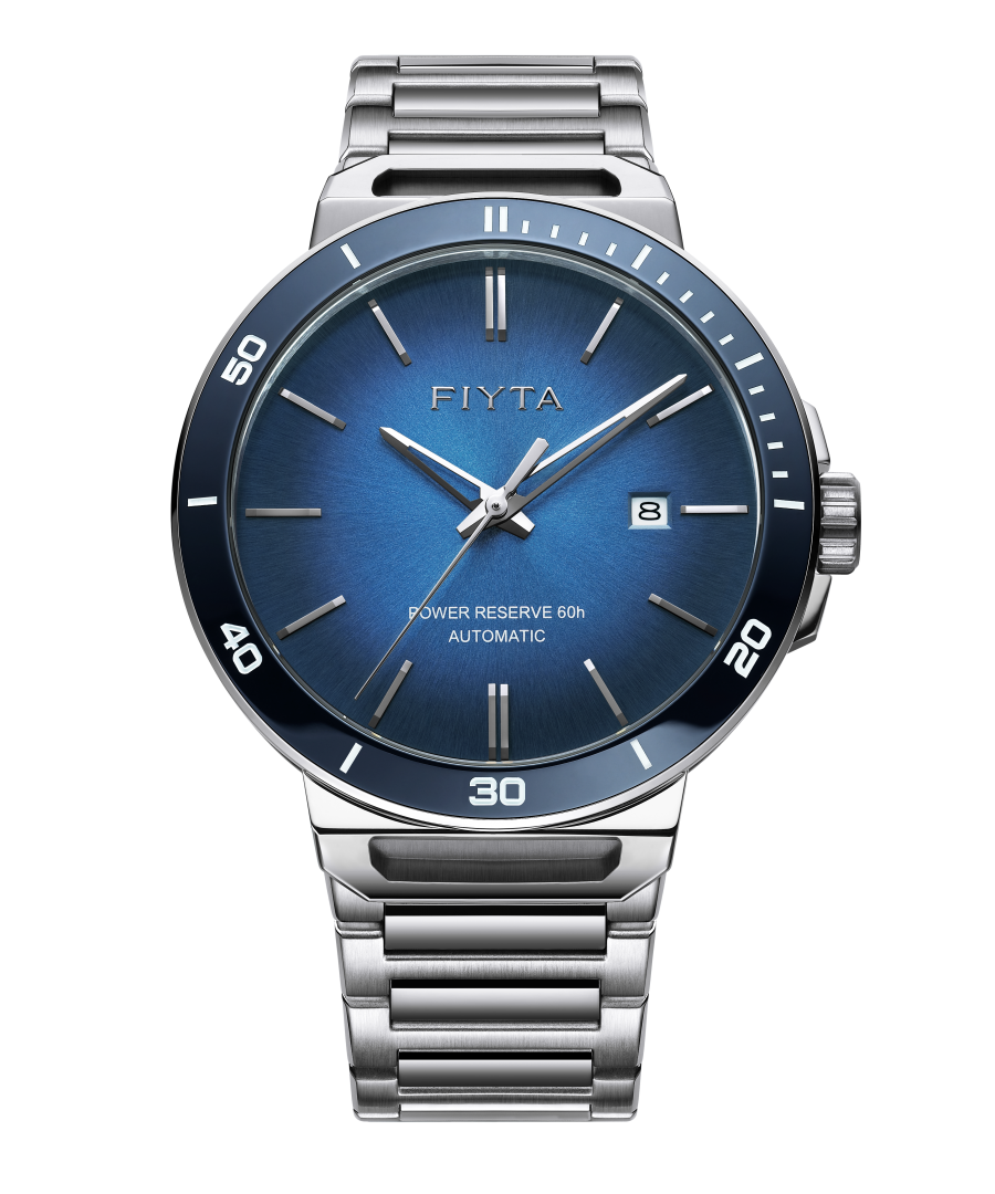 Image for Fiyta Mens Automatic Solo Date Blue Watch