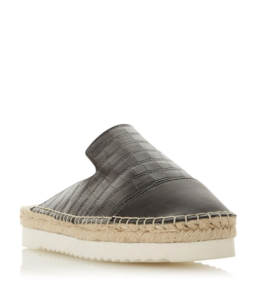 Image for Dune Ladies GAILS Leather Espadrille Mule