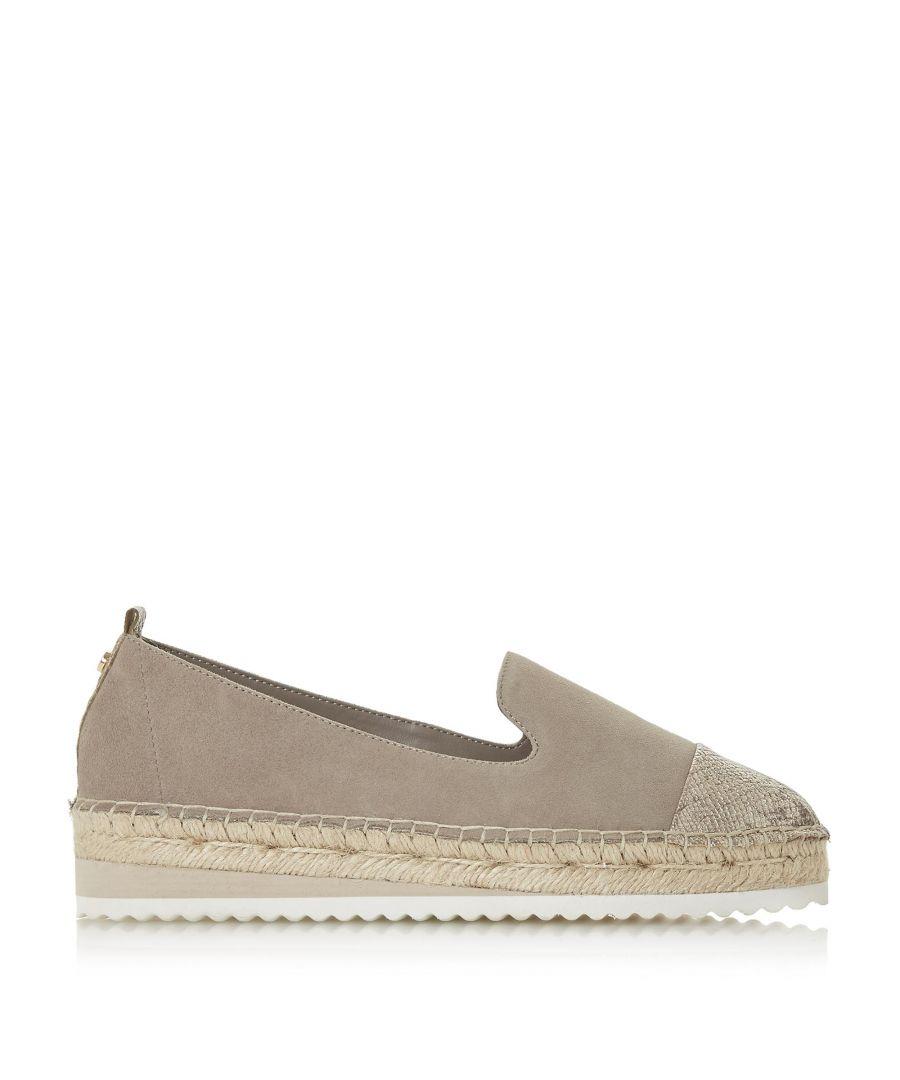 Image for Dune Ladies GAVI Slipper Cut Toecap Espadrille Shoes