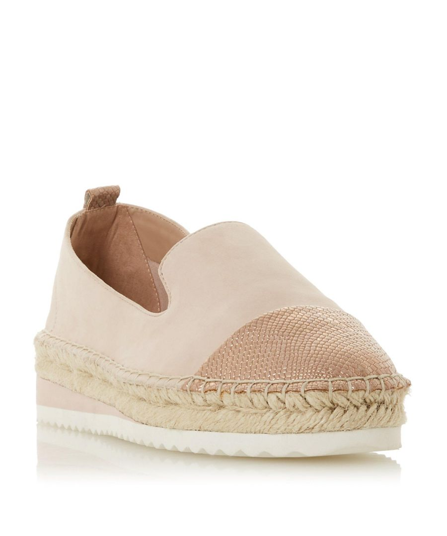 Image for Dune Ladies GAVI Slipper Cut Toecap Espadrille Shoe