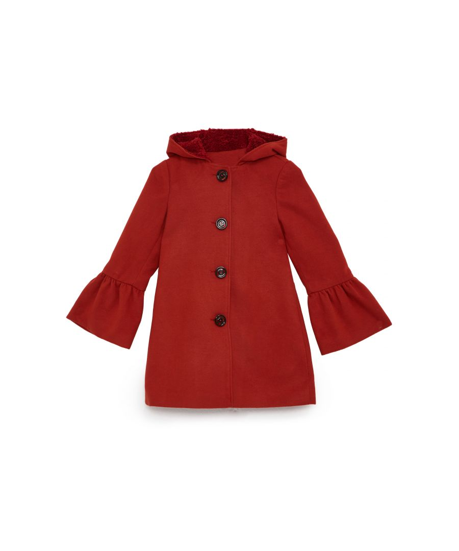 Image for HOODED PEPLUM SLEEVE COAT