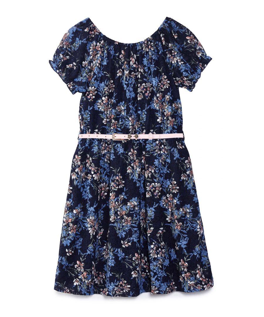Image for FLORAL LACE BARDOT DRESS