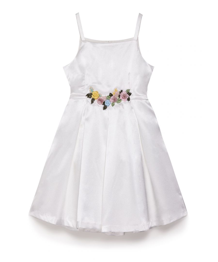 Image for Satin Flower Prom Dress