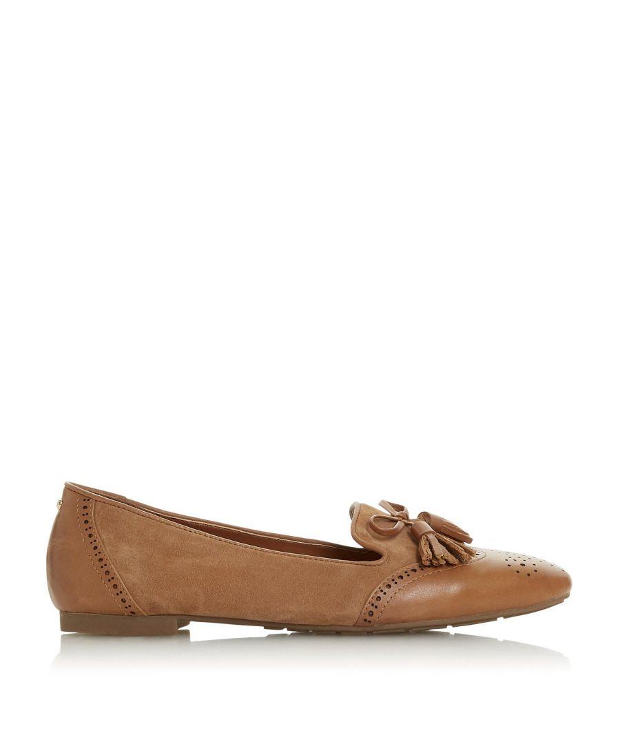 Image for Dune Ladies GEENIES Brogue Detail Tassel Trim Loafer