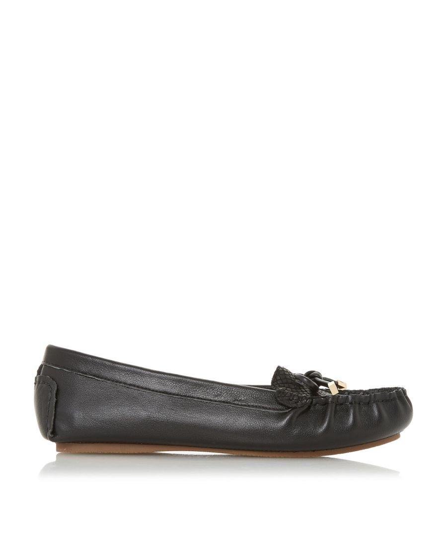 Image for Dune Ladies GEENOVA Croc Vamp Loafer Shoes