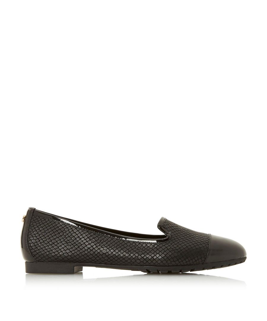 Image for Dune Ladies GENEVENE Slip On Trim Detail Flat Shoes