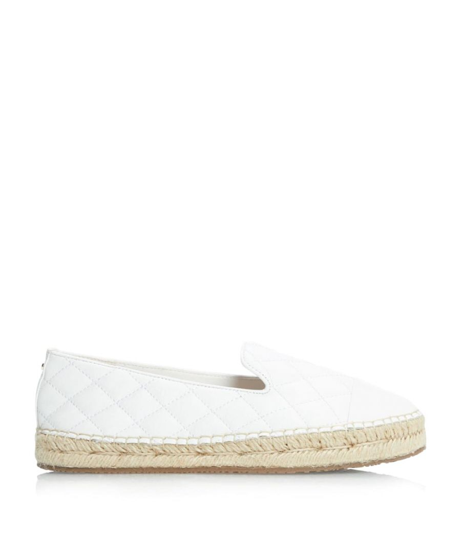 Image for Dune Ladies GENTLY Quilted Toe Cap Espadrilles