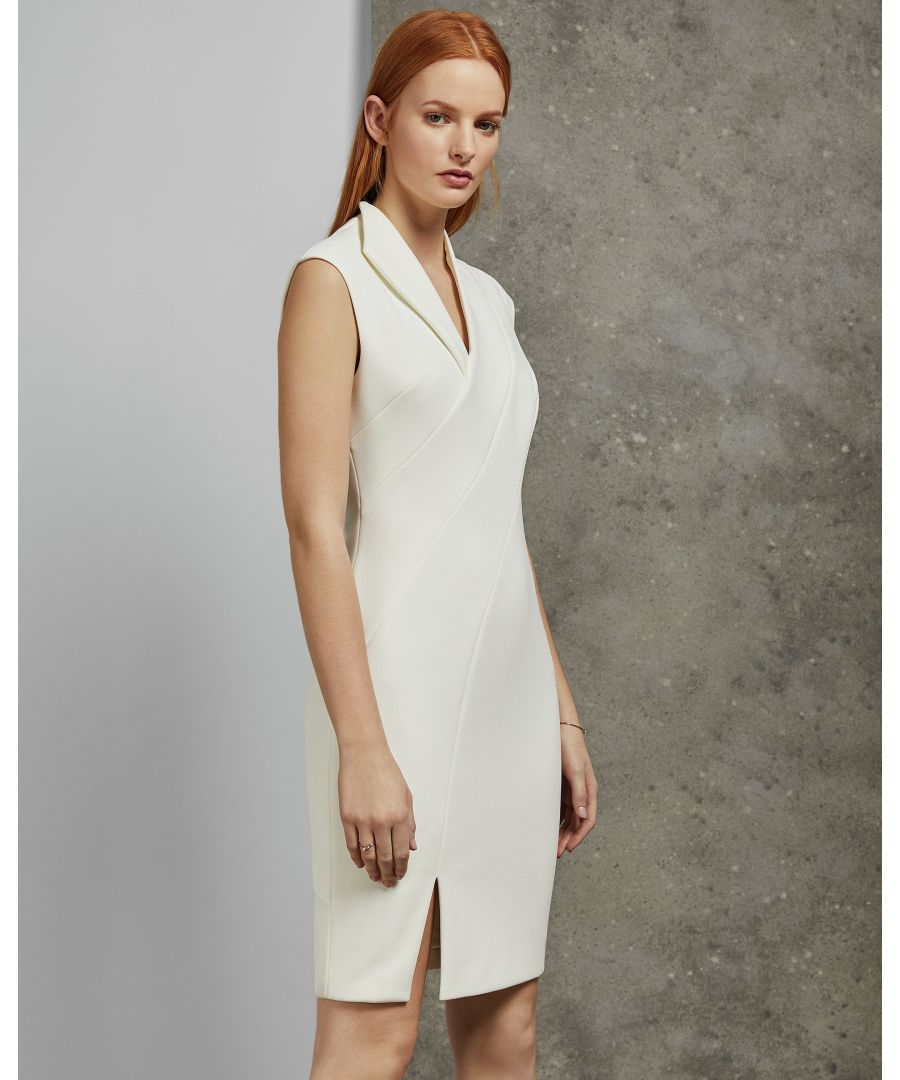 Image for Ted Baker Geodese Wrap Front Pencil Dress, Ivory