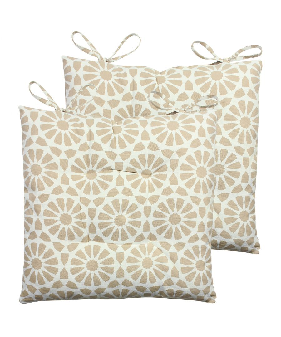 Image for Geometric Mosaic 2 Pack Seat Pads