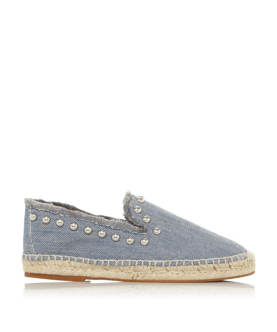 Image for Dune Ladies GEORGINA DB Canvas Slipper Cut Espadrille Shoes