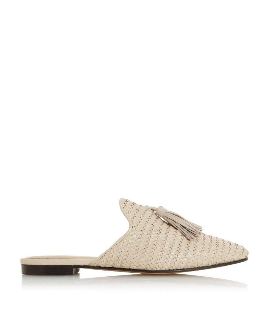 Image for Bertie Ladies GIANNE Woven Tassel Slip On Mule Shoes