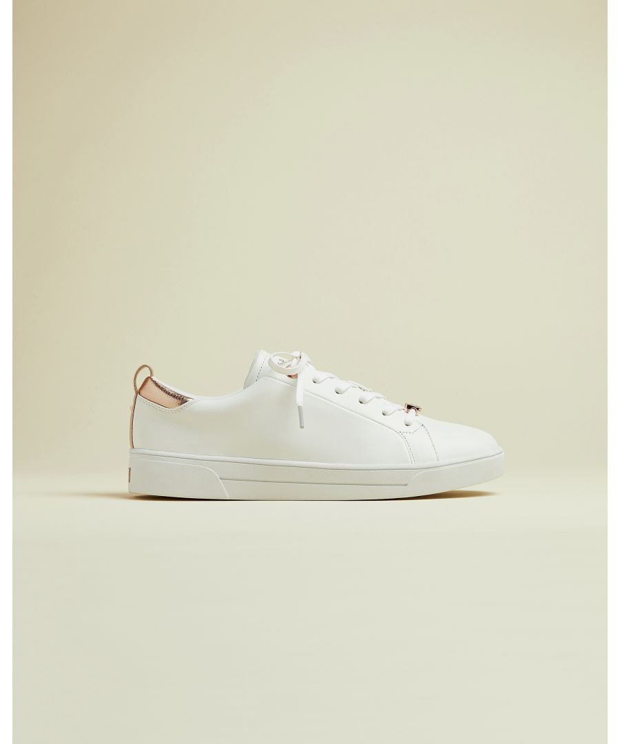 Image for Ted Baker Gielli Lace Up Tennis Trainers, White