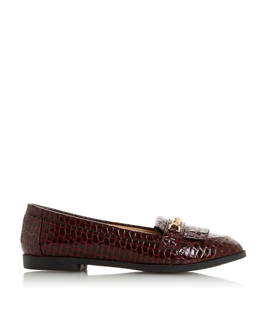Image for Head Over Heels by Dune Ladies GILES Chain Fringe Loafer