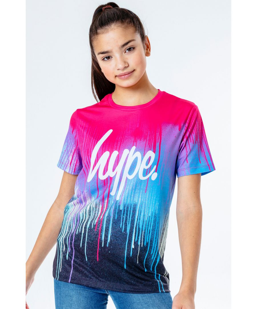 Image for Hype Pink Spray Drips Kids T-Shirt