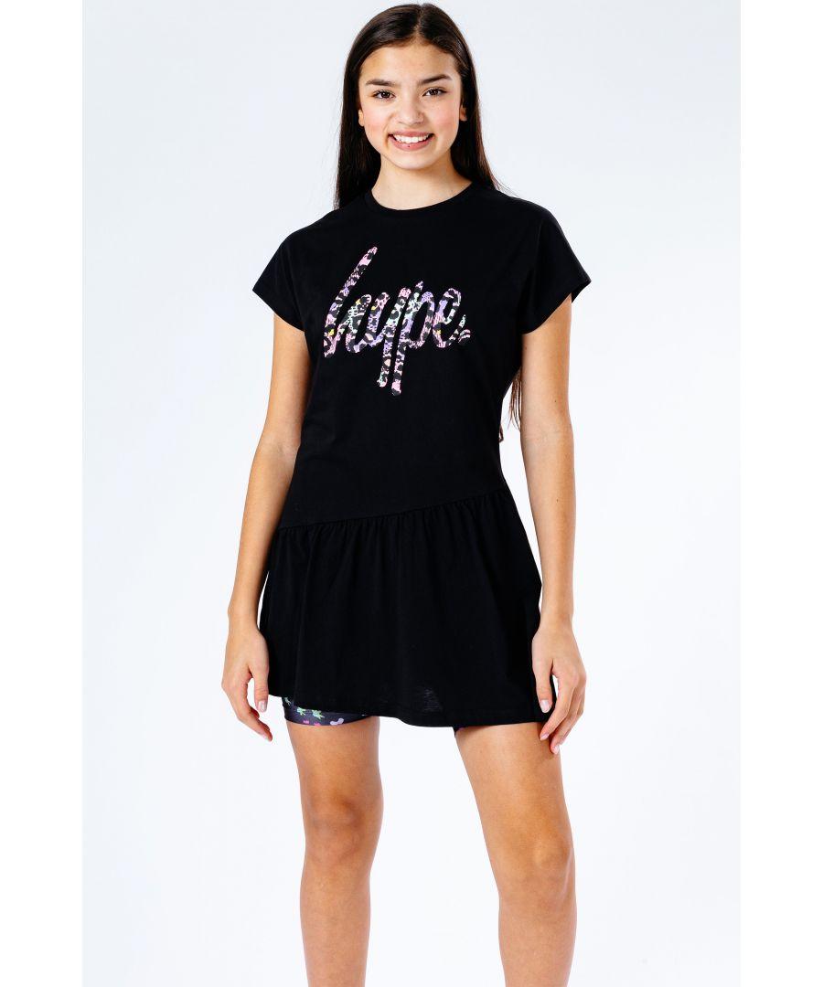 Image for Hype Chic Animal Script Kids Dress