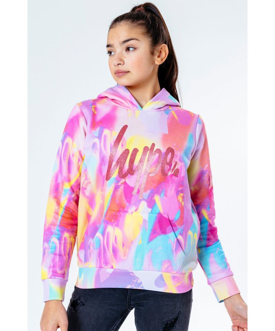 Image for Hype Pink Strobe Kids Pullover Hoodie