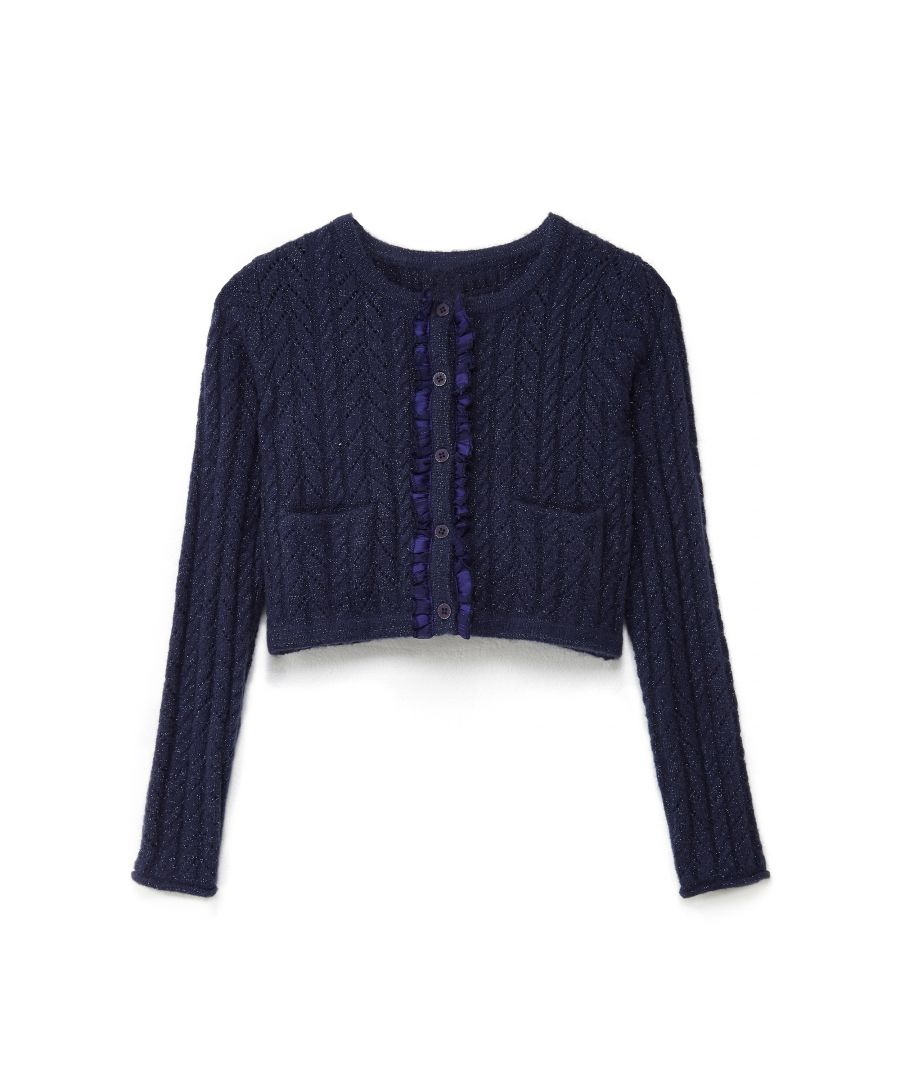 Image for TEXTURED STITCH CARDIGAN
