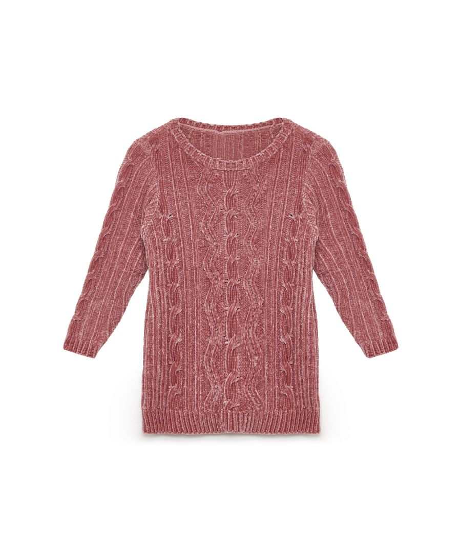 Image for Yumi Girls Cable Chenille Jumper
