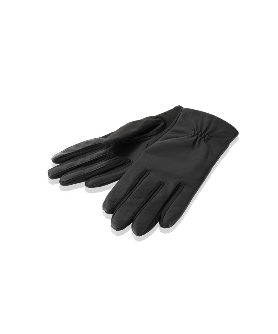 Image for Ladies Black Stretch Leather Gloves