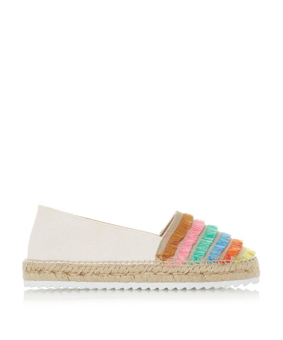 Image for Dune Ladies GLAZIER Multicoloured Frayed Trim Espadrilles Shoes