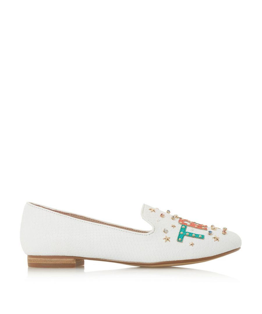 Image for Dune Ladies GLITZA True Love Slipper Cut Loafer Shoes