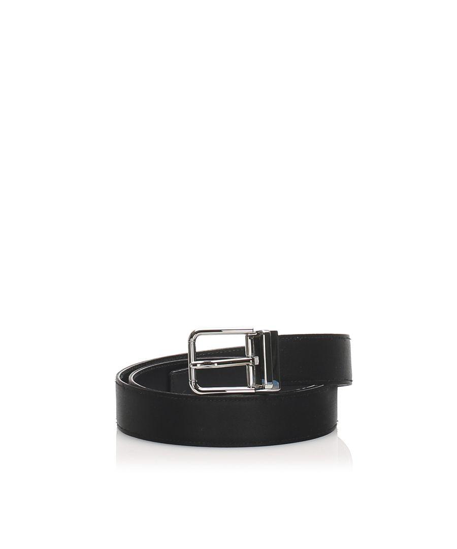 Image for Vintage Dolce&Gabbana Leather Belt Black