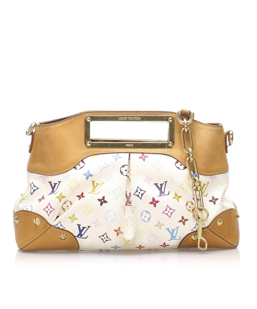Image for Vintage Louis Vuitton Monogram Multicolore Judy MM White