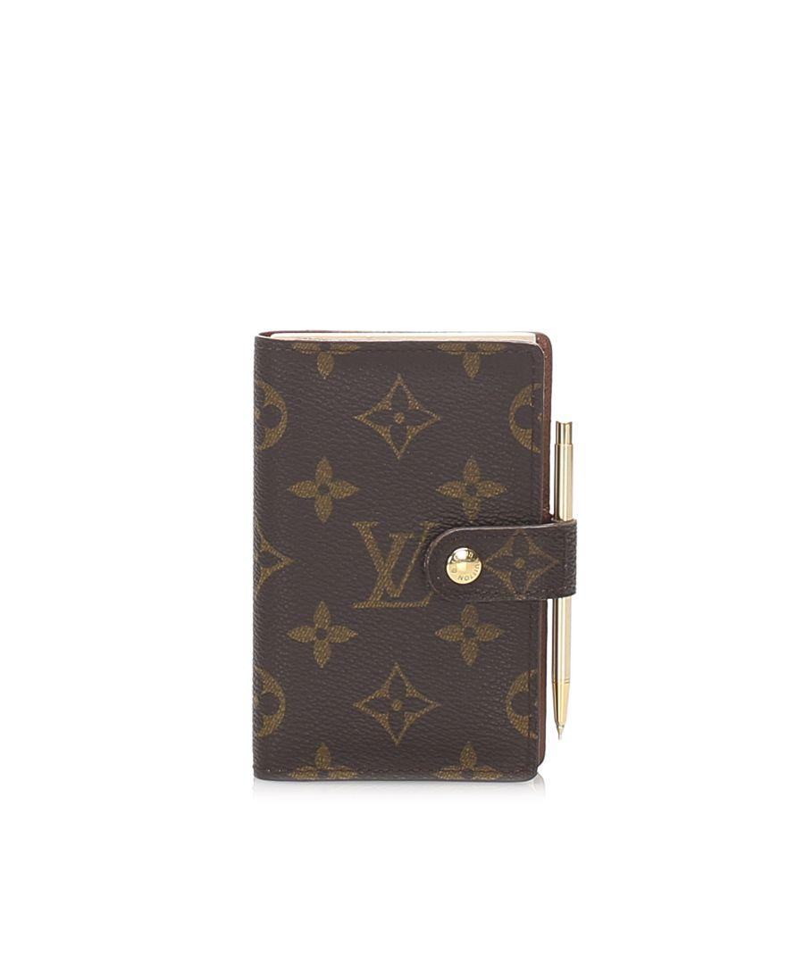 Image for Vintage Louis Vuitton Mini Monogram Agenda Brown