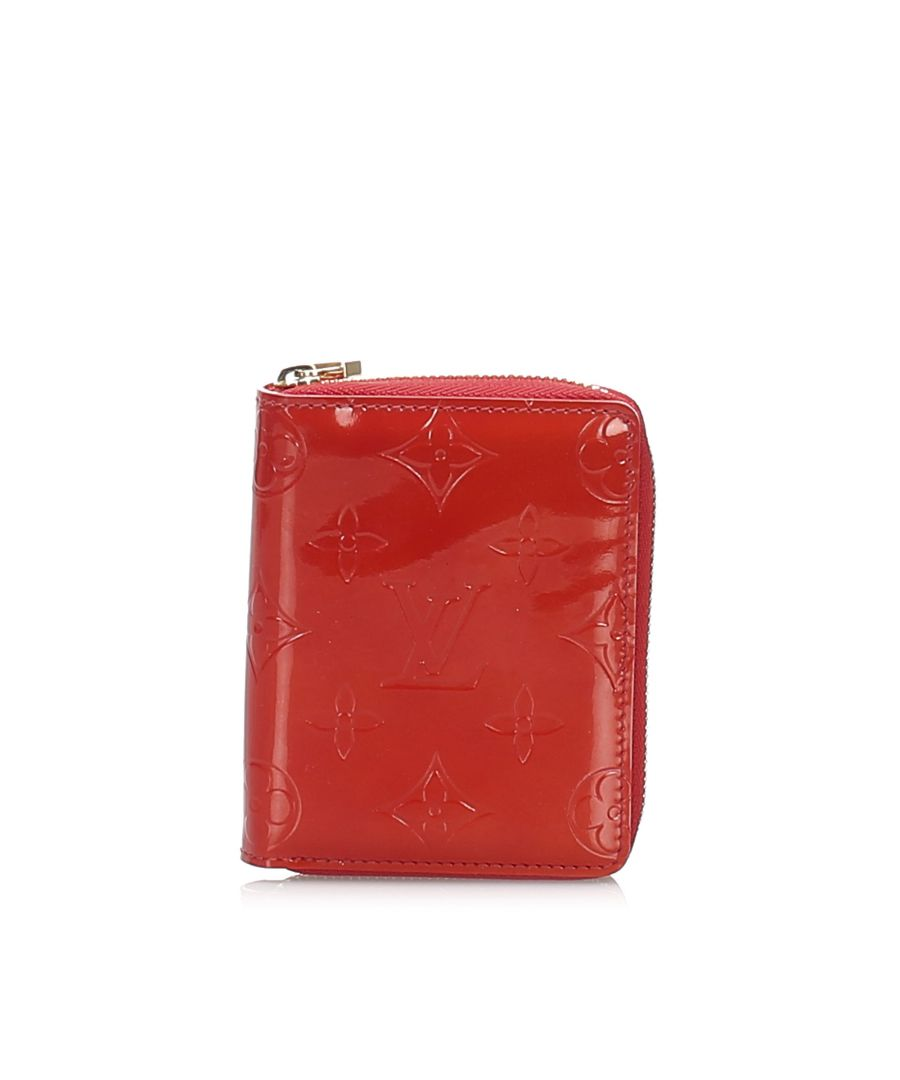 Image for Vintage Louis Vuitton Vernis Zippy Wallet Red
