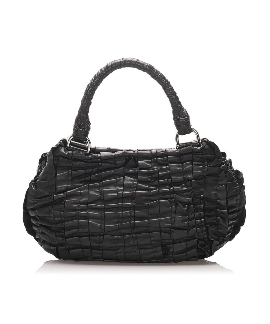 Image for Vintage Prada Nappa Gaufre Handbag Black