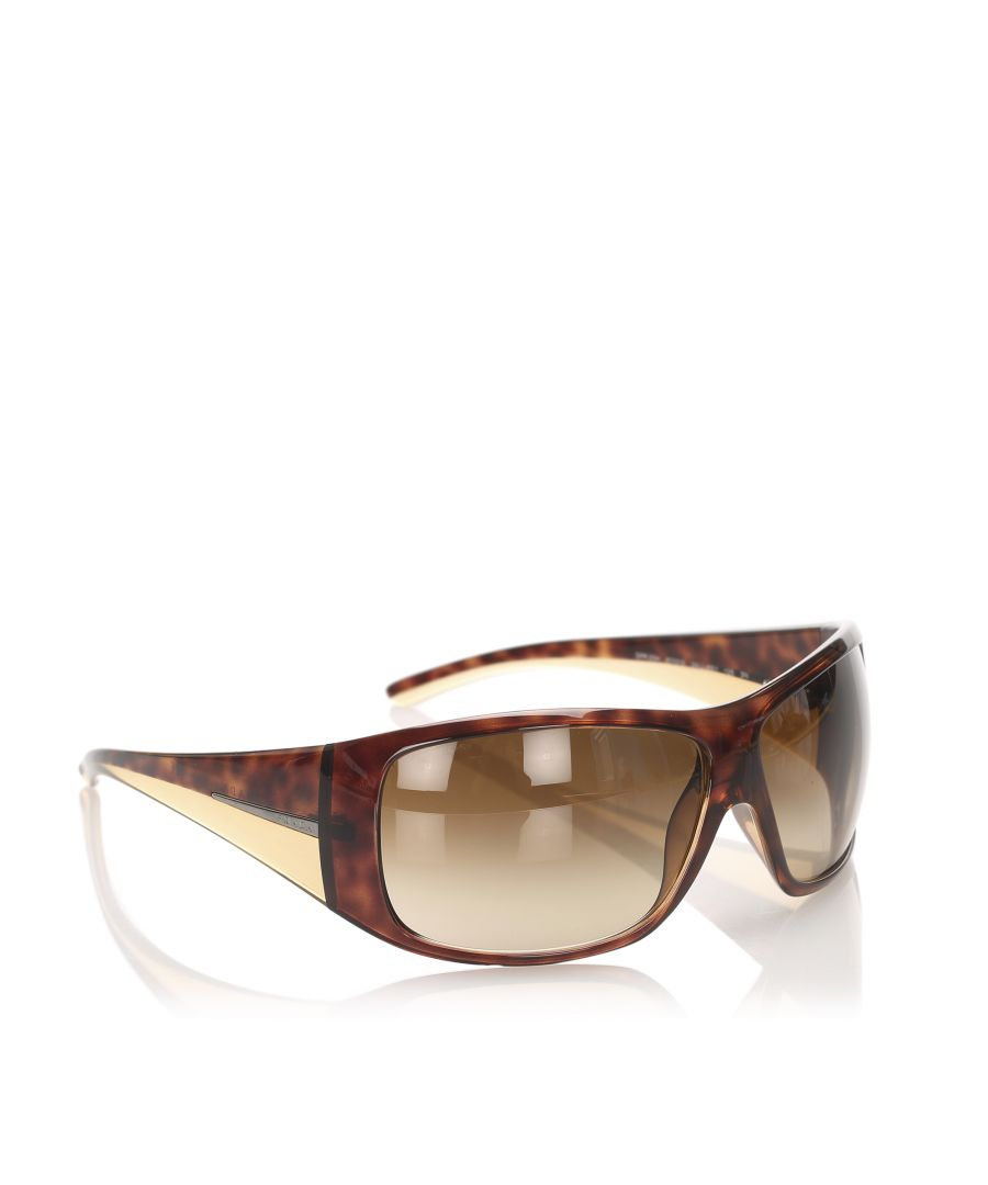 Image for Vintage Prada Round Tinted Sunglasses Brown