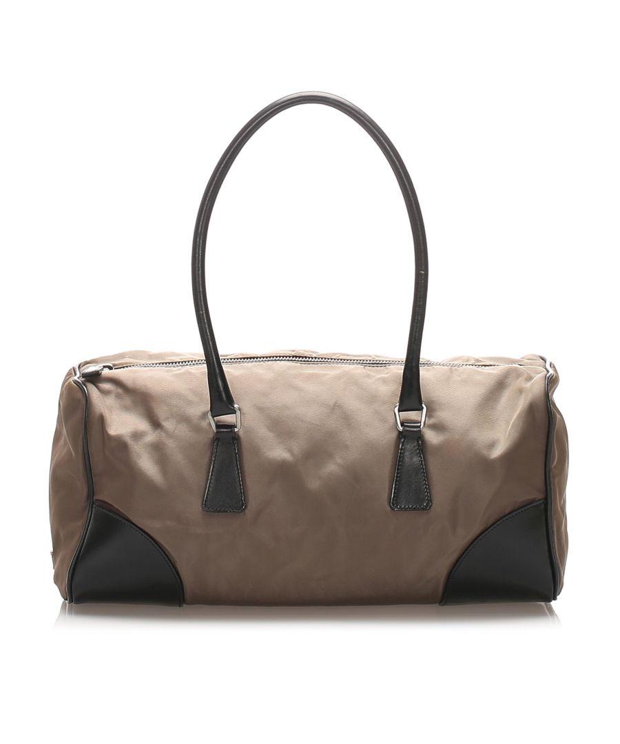 Image for Vintage Prada Tessuto Shoulder Bag Brown