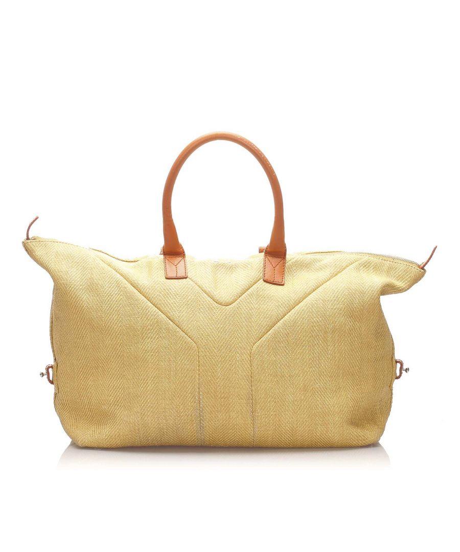 Image for Vintage YSL Easy Y Canvas Travel Bag Brown