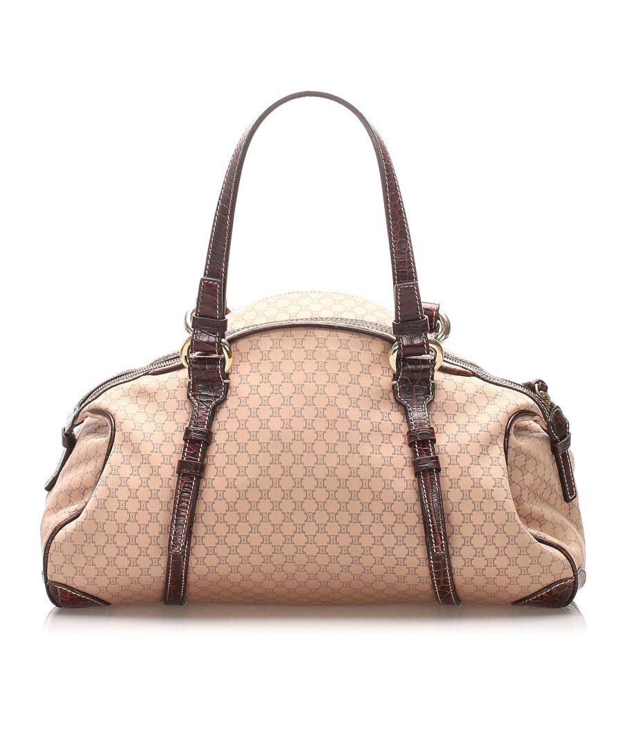 Image for Vintage Celine Macadam Canvas Handbag Brown