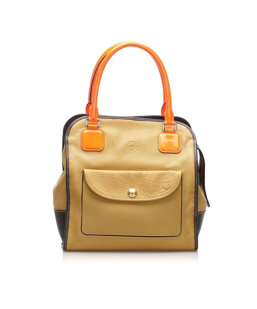 Image for Vintage Loewe Alta Leather Tote Bag Brown