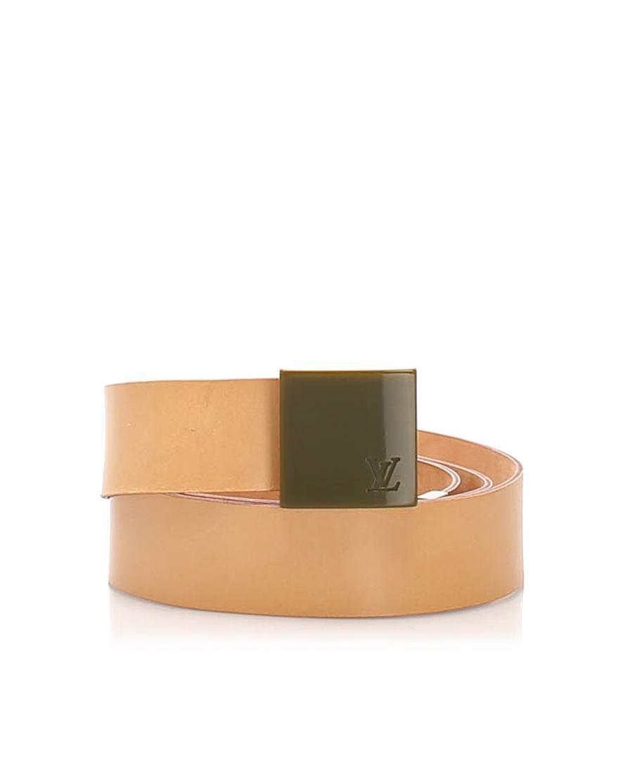 Image for Vintage Louis Vuitton Leather Belt Pink
