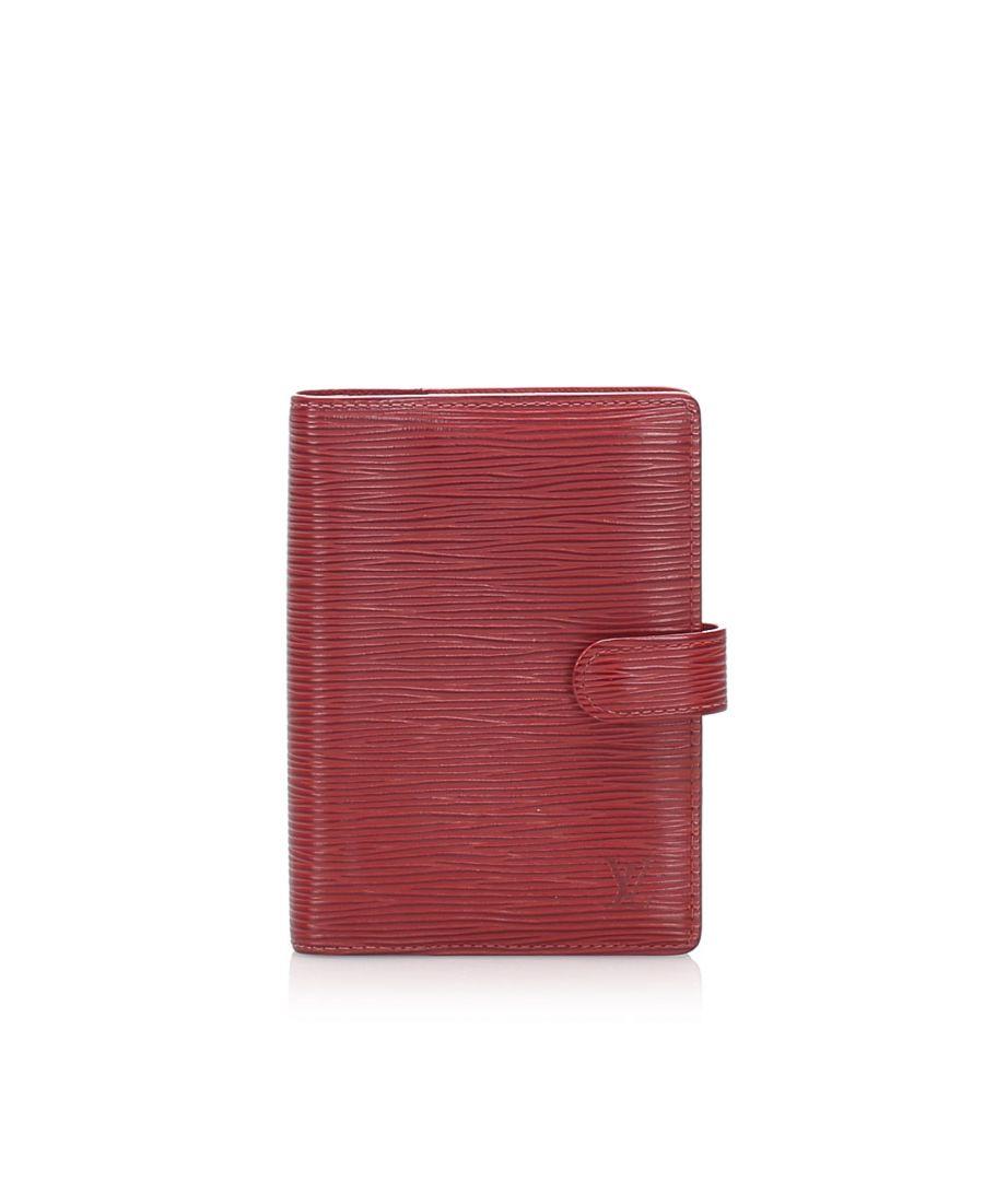 Image for Vintage Louis Vuitton Epi Agenda PM Red